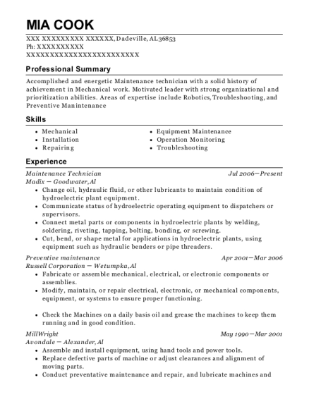 Millwright Resume Under Fontanacountryinn Com