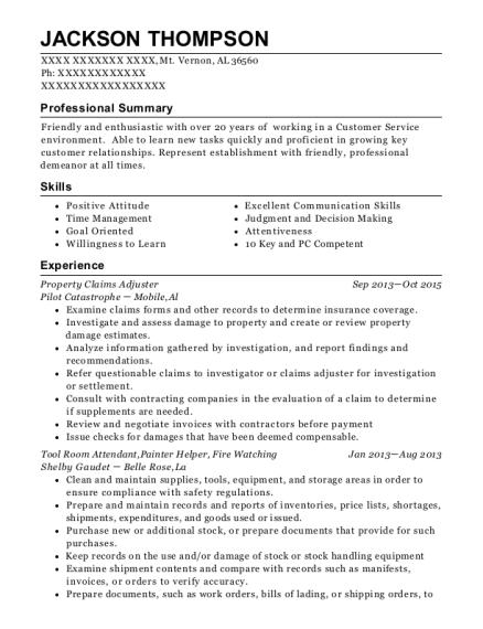 best tool room attendant resumes