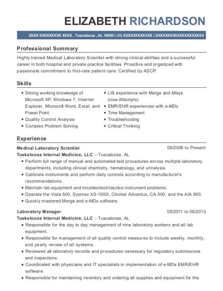 Best Medical Laboratory Scientist Resumes | ResumeHelp