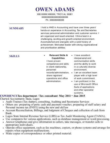 Best Assistant Personnel Officer Resumes | ResumeHelp
