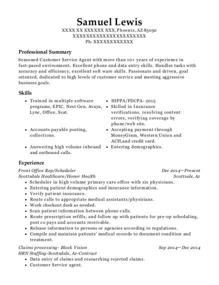 samuel lewis - Data Processor Resume
