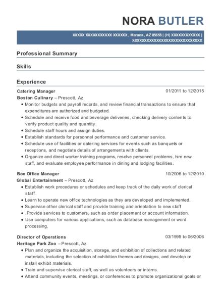 Best Box Office Manager Resumes | ResumeHelp