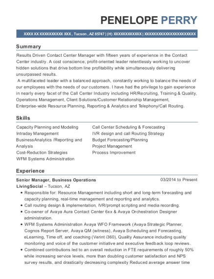 Verizon Wireless Workforce Management Resume Sample - Bountiful Utah ...