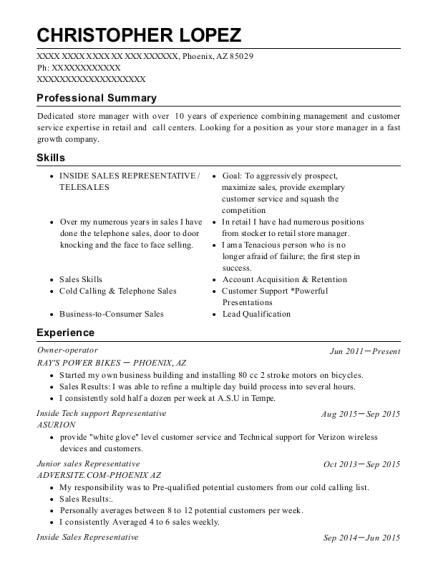 Best Junior Sales Representative Resumes | ResumeHelp