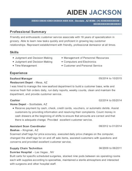 tops markets assistant scan coordinator resume sample orchard park