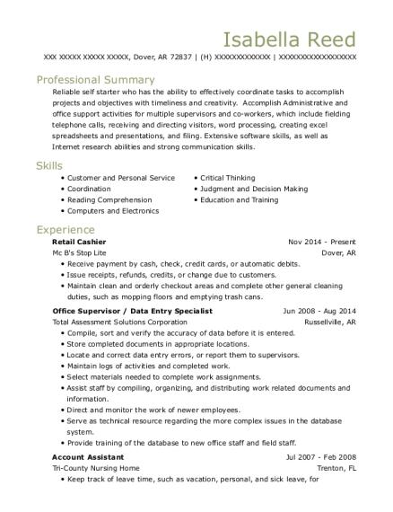 krispy kreme retail cashier resume sample