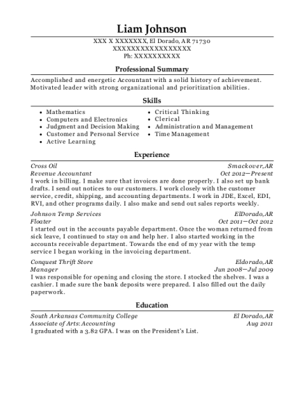Best Revenue Accountant Resumes | ResumeHelp