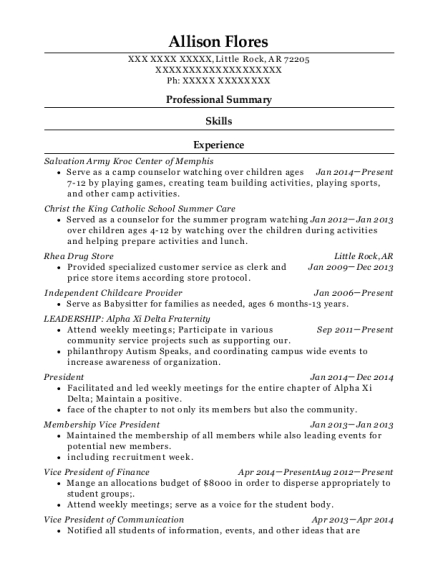 chi omega fraternity recruitment chair resume sample