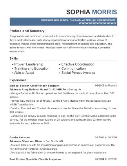 Best Glazier Assistant Resumes Resumehelp