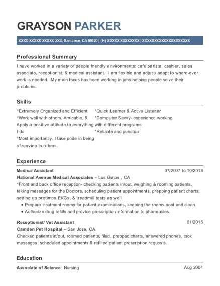 primary and urgent care medical assistant resume sample