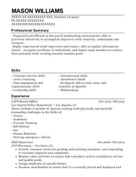 rite aid pharmacy shift supervisor resume sample swansea