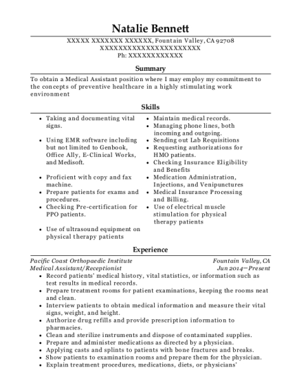Best Lead Medical Assistant Resumes | ResumeHelp