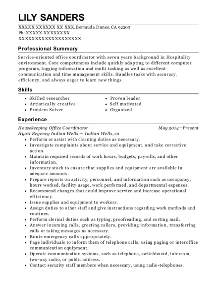 Lily Sanders  Office Coordinator Resume