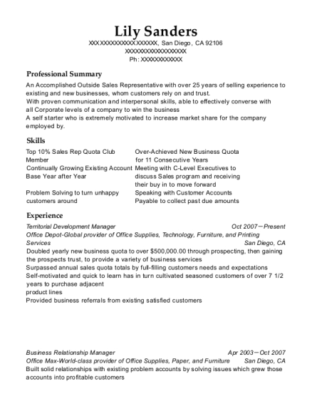 Best Business Relationship Manager Resumes | ResumeHelp