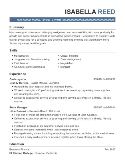 view resume cash register