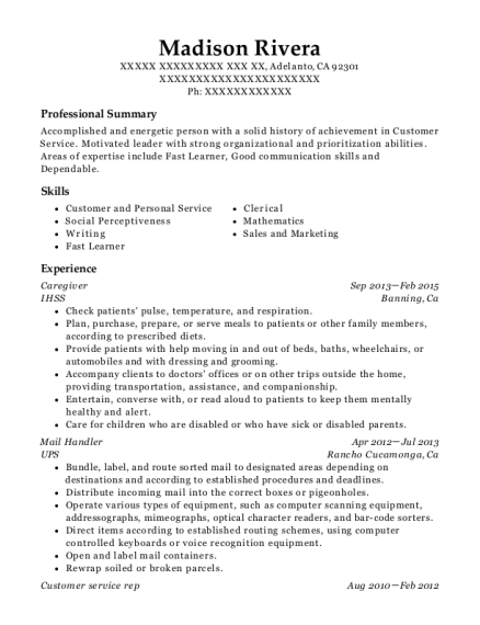 united states postal service mail handler resume sample