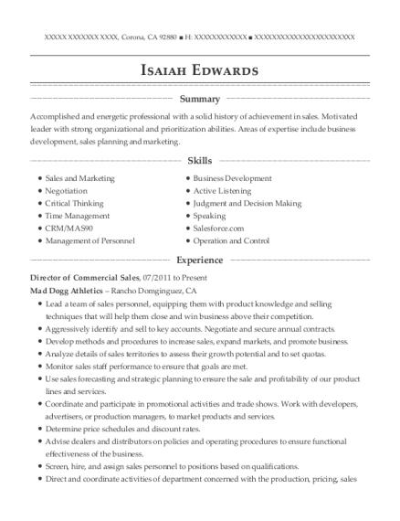best inside sales manager resumes resumehelp