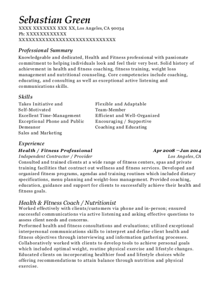best public health nutritionist resumes