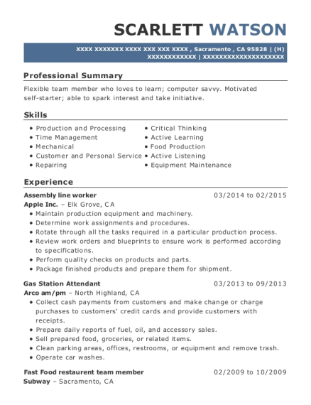 gas station attendant sample resume example resume for gas
