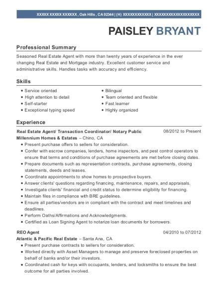 self employed notary public resume sample