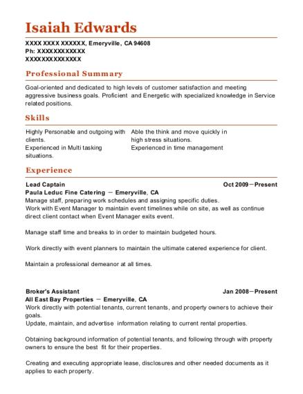 Best Server Trainer Resumes ResumeHelp - Server trainer resume examples