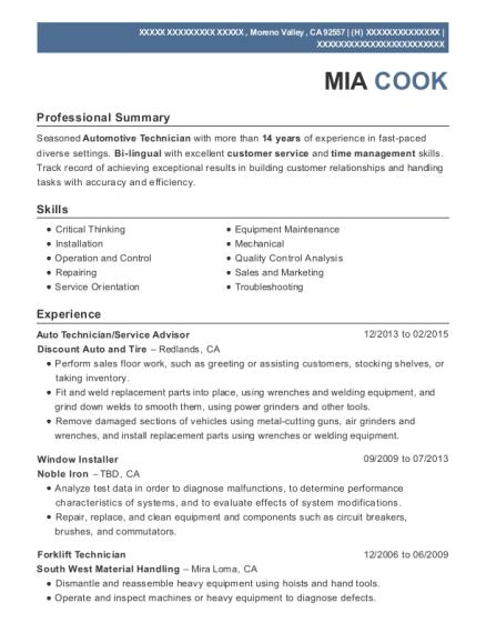 Captivating View Resume. Auto Technician
