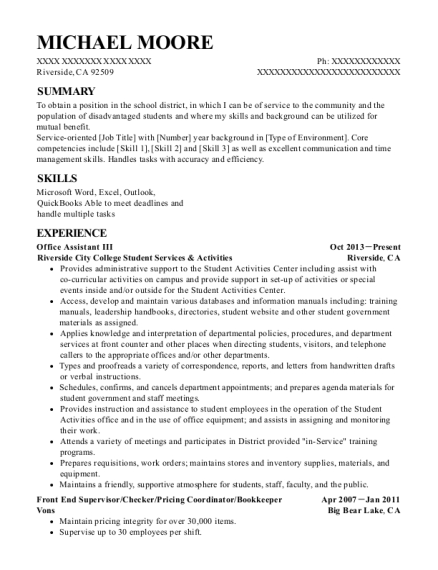 data entry supervisor resume