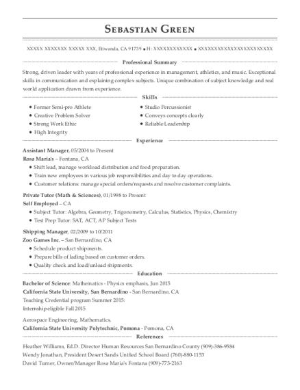 best private tutor resumes resumehelp