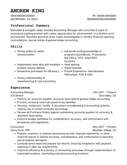 Best Contract Accountant Resumes | ResumeHelp