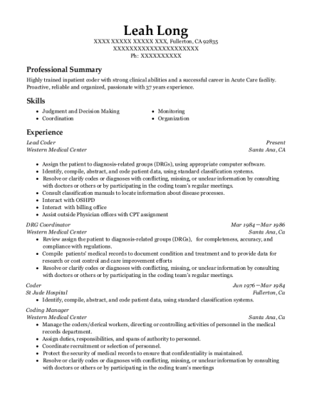 Best Coding Manager Resumes   ResumeHelp