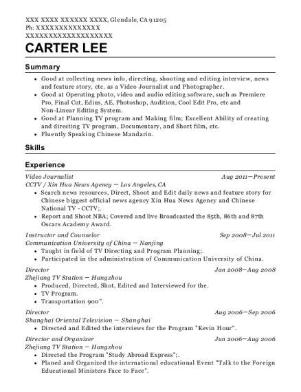 journalist resume warehouse specialist cover letter sample resume