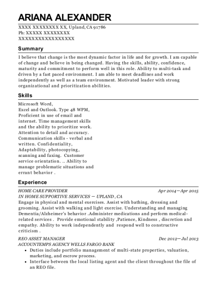 Best Reo Asset Manager Resumes Resumehelp