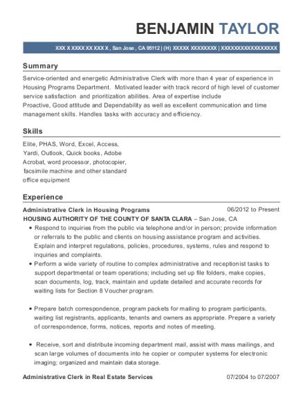 Benjamin Taylor  Program Specialist Resume