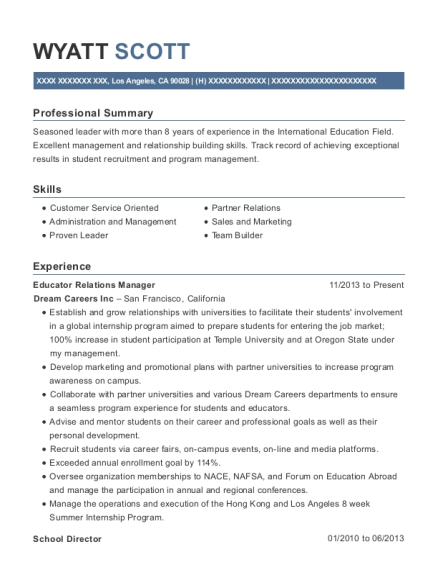 Best Student Services Manager Resumes | ResumeHelp