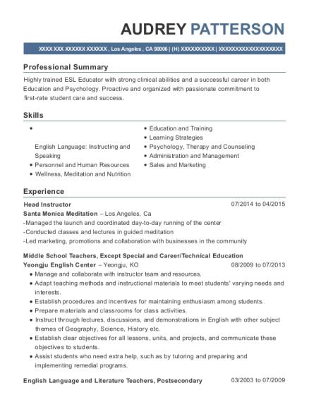 resume for psychologist