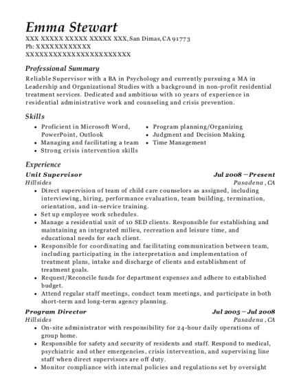 counseling internship resumes