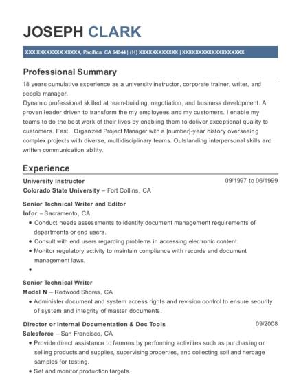 Dell Senior Technical Writer Resume Sample - Aliso Viejo California ...