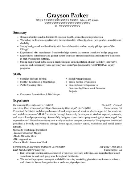 best community engagement outreach coordinator resumes resumehelp