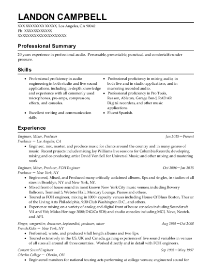 Best Keyboardist Resumes | ResumeHelp