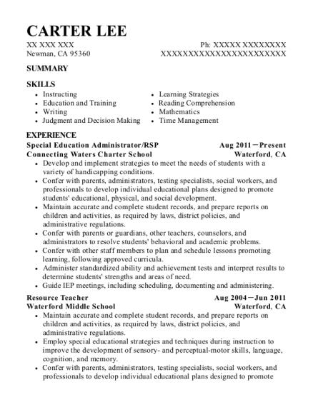 best special education administrator resumes resumehelp