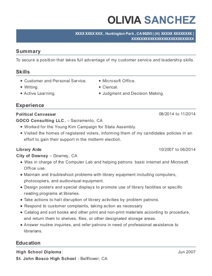 canvasser resume - Vaydile.euforic.co