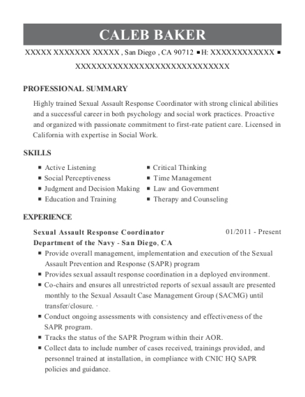 law prevention manager resume