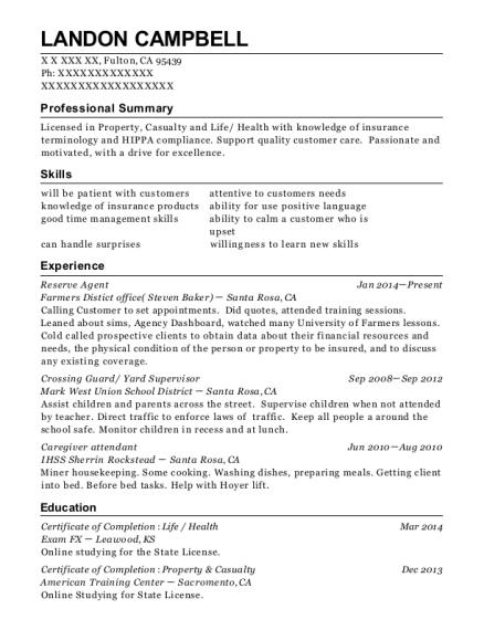 Best Reserve Agent Resumes | ResumeHelp