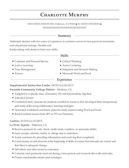 ucf sarc supplemental instruction leader resume sample st johns