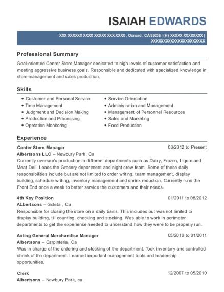 Best Acting General Merchandise Manager Resumes   ResumeHelp