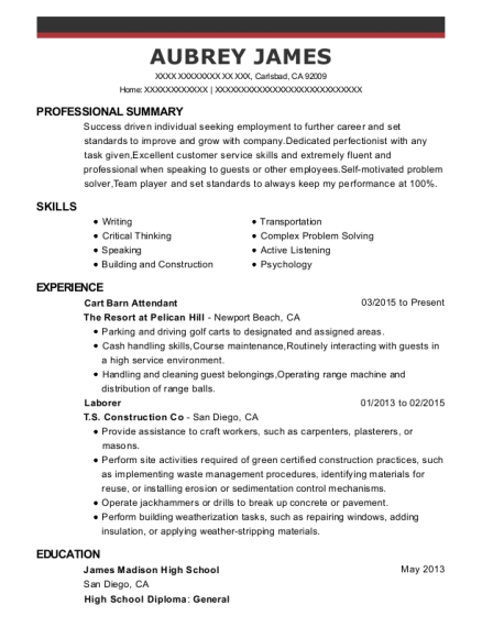 Captivating People Also Search For. Customize Resume · View Resume. Cart Barn Attendant