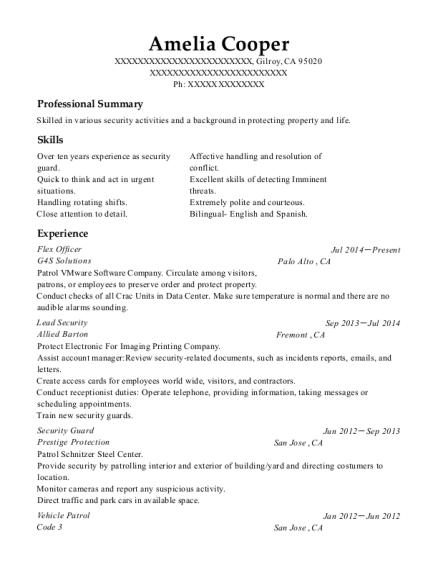 flex resume