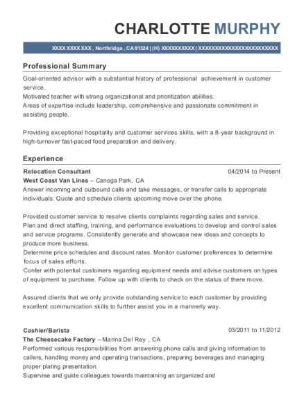 best relocation consultant resumes resumehelp