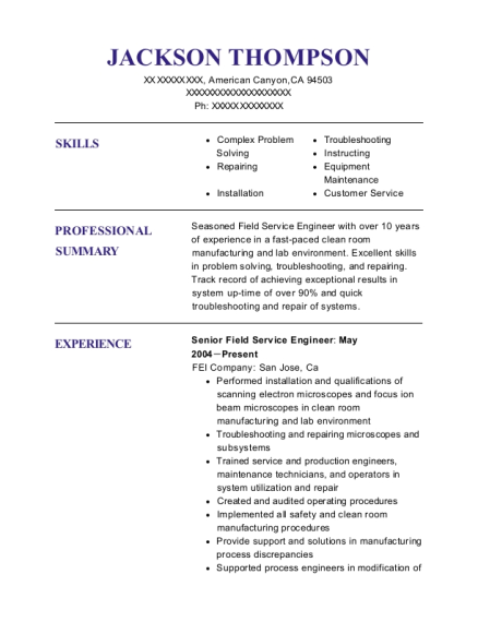best gas turbine mechanical technician resumes resumehelp