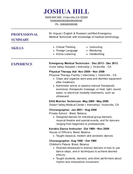 Best Ekg Monitor Technician Resumes